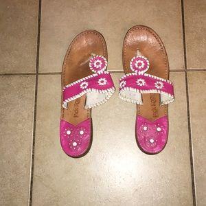 Pink jack roger shoes